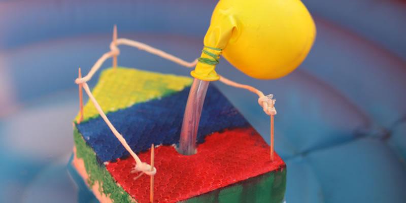 Kreativ Werkstatt Schlauch Boot Mit Kindern Basteln