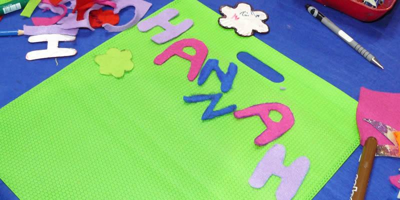 Taschen kreativ mit Kinder malen | Ideen zum Basteln